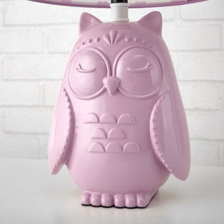KIDS OWL WITH HEARTS LAMP