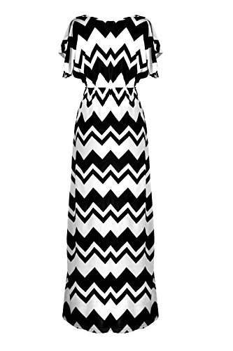 G2 Chic Women's Bohemian Summer Maxi Dress(DRS-MAX,WHT-S)