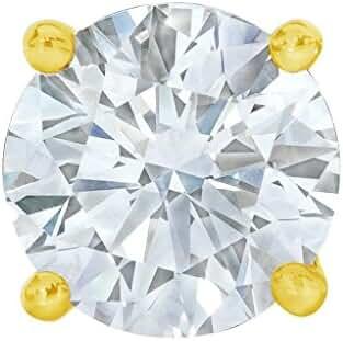 PARIKHS Round Single Diamond Stud Promo Quality in White Gold,Yellow Gold & Rose Gold