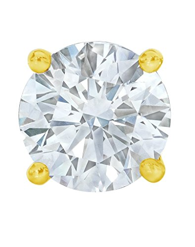 PARIKHS Round Single Diamond Stud Promo Quality in Yellow Gold (0.04 (0.04 Ct Diamond Fashion)