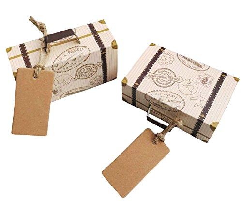 SL crafts Vintage Suitcase Favor Box Wedding Candy Boxes ...