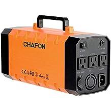 CHAFON CF-UPS018 346WH - Batería de litio con arranque de arranque de coche, sin interrupciones, toma de corriente estándar de EE. UU., Anaranjado