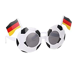 Prettyia Fashion Football Soccer Glasses Kids Adults Sport Fans Photo Props Eye Wear 2018 Party Sunglasses Favors - Germany