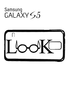 Look Geek Nerd Glasses Mobile Cell Phone Case Samsung Galaxy S5 White by supermalls