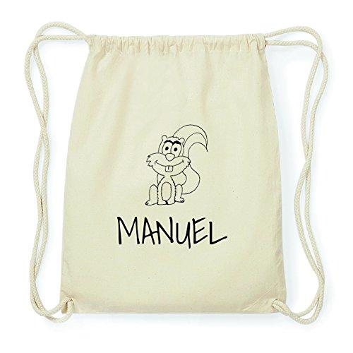 JOllipets MANUEL Hipster Turnbeutel Tasche Rucksack aus Baumwolle Design: Eichhörnchen qcEdP2uouj
