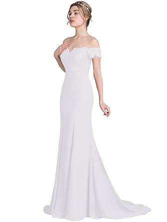 Jitong Women\'s Vintage Prom Party Maxi Dress Off Shoulder Short ...