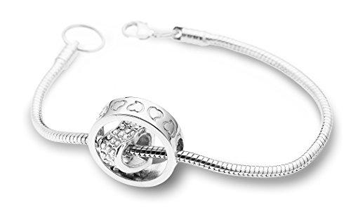 Heart in Circle Womens Fashion Bracelet Made with Swarovski Elements (Element Crystal Bracelet)