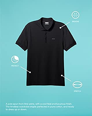 Calvin Klein Men's Liquid Cotton Polo