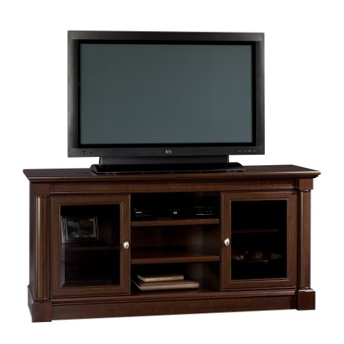 Sauder Palladia Entertainment Credenza, Select Cherry