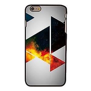 WQQ plástico espacio triángulos estilo duro de la contraportada para el iphone 6 más