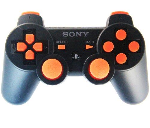 Ps3 Black/Orange Rapid Fire Custom Modded Controller 40 M...