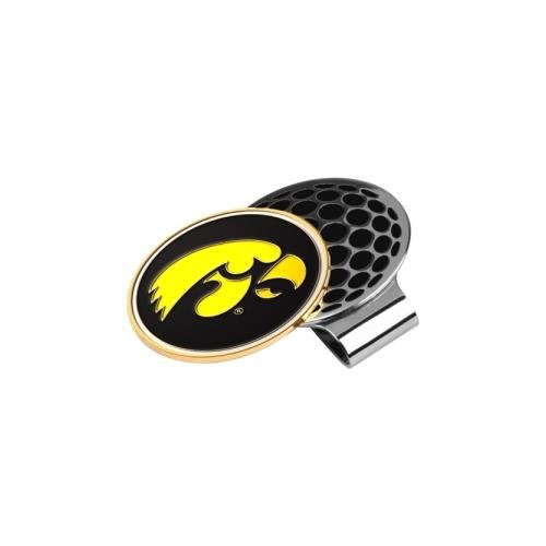 LinksWalker NCAA Iowa Hawkeyes Golf Hat Clip with Ball Marker ()