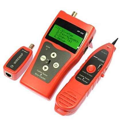 Mekarsoo 388 Multipurpose Network LAN Phone Audio Cable Tester with 8 Far-end Passive Test Jacks