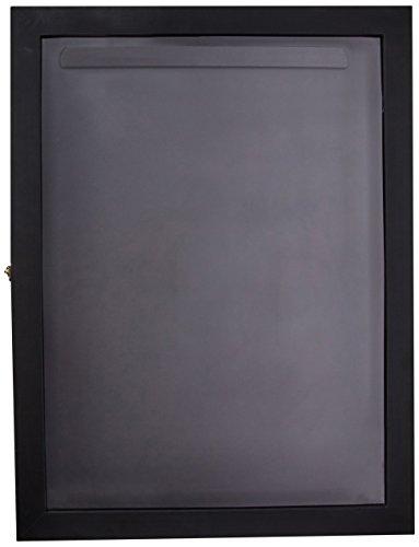 HomCom Jersey Frame Display Case Shadow Box - Black