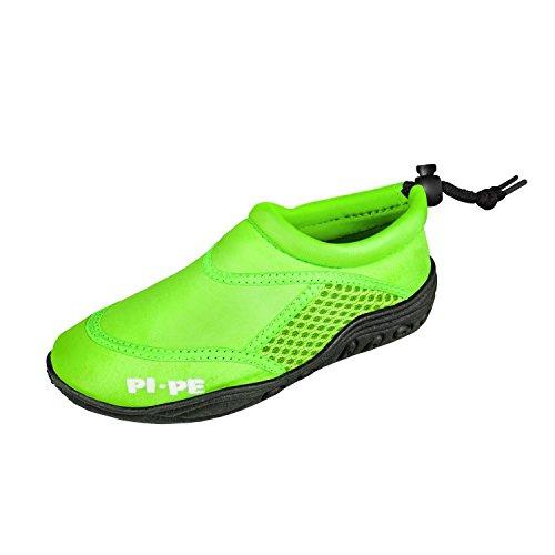 PI-PE Active Badeschuhe Kinder Jungen und Mädchen Aquashoes Schwimmschuhe (grün, 33)