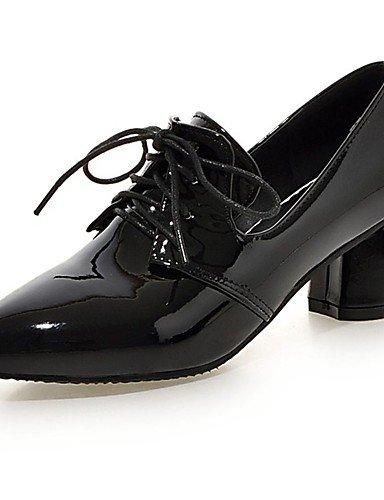 GGX/ Damen-High Heels-Büro / Lässig-Lackleder-Blockabsatz-Komfort / Spitzschuh-Schwarz / Silber / Gold black-us7.5 / eu38 / uk5.5 / cn38