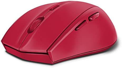 CALADO Silent Mouse - Wireless USB, Rubber-Red