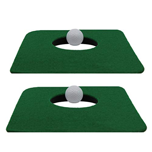 Upstreet Putting Mat for Indoor Golf Cup - Includes Two Indoor Putt Mats and Two Training Balls
