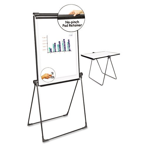 Universal 43030 Foldable Double-Sided Dry Erase Easel, Two Configurations, White Board: 29 x 41