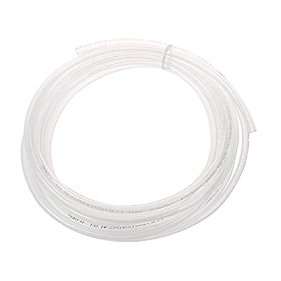 TOOGOO(R) 4M 13.1Ft 6mm x 4mm Pneumatic Air PU Hose Pipe Tube Clear