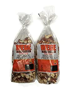 Wege Sourdough Broken Pretzels, 15 Oz. Bags (Pack of 2)
