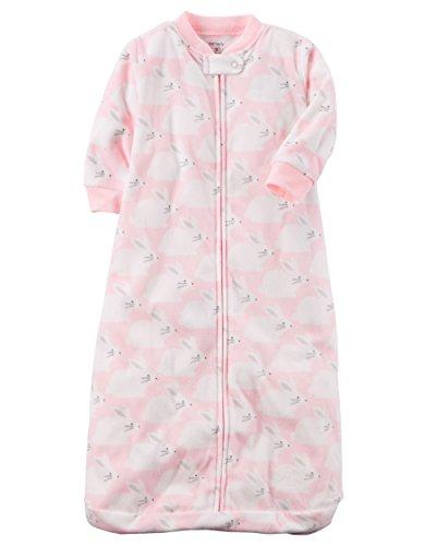Carters Unisex Baby Fleece Sleepbag Sleepsuit, Rabbits, Small 0-3 Months