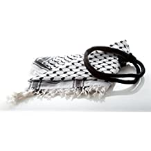 Fashion Arab Shemagh Keffiyeh Scarf with Headband Shawl Kafiya Wrap 60% Cotton