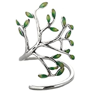 Helen de Lete Innovative Life Tree Sterling Silver Open Ring