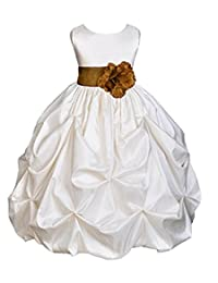 WAWALI Girls Flower Bridesmaids Dresses Wedding Party Ball Gowns