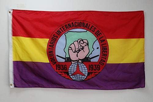 AZ FLAG Bandera de ESPAÑA Republicana Voluntarios Libertad ...