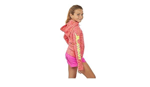 497822827 Lizatards Space Dye GYMNAST Hoodie Jacket in Pink Yellow Girls S (7 ...