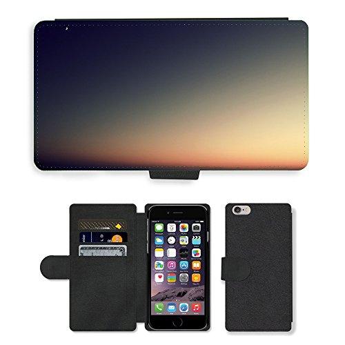 """PU Leather Cover Custodia per // M00421600 Nuit de l'eau Coucher de soleil Mer // Apple iPhone 6 4.7"""""""