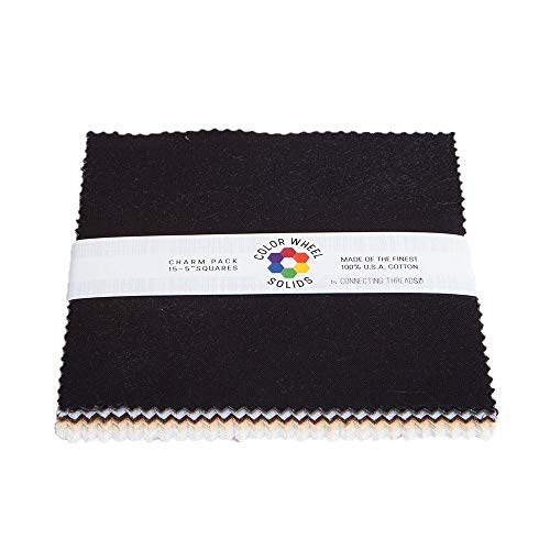 Connecting Threads Color Wheel Premium Precut Fabric Bundle (Rocky Mountain Charm Squares)