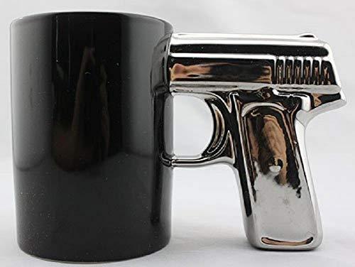 BLACK&SILVER-Pistol Cup,Gun Mug,Mug -