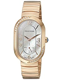 Philip Stein Women's 'Modern' Swiss Quartz Stainless Steel Dress Watch, Color:Rose Gold-Toned (Model: 74SDRGP-FRGMOP-MSSRGP)