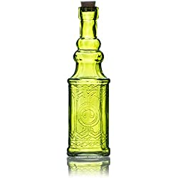 Quasimoon PaperLanternStore.com Ella Chartreuse Vintage Glass Bottle Wedding Flower Vase