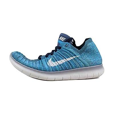 Nike Women's Free Running Motion Flyknit Shoes, Ocean Fog/white-blue Glow - 5.5 B(M) US