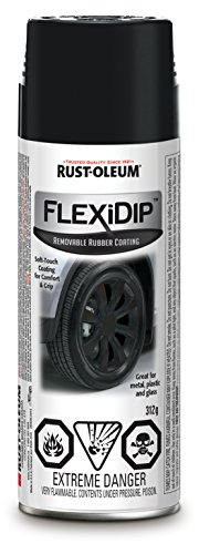 Rust-Oleum SPECIALTY Flexi Dip Removable Rubber Coating 281792, Matte Black, 312 G AEROSOL