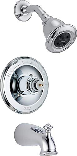 - Delta T14478-H2OLHP Leland Monitor 14 Series Bathtub & Shower Trim without Handle, Chrome