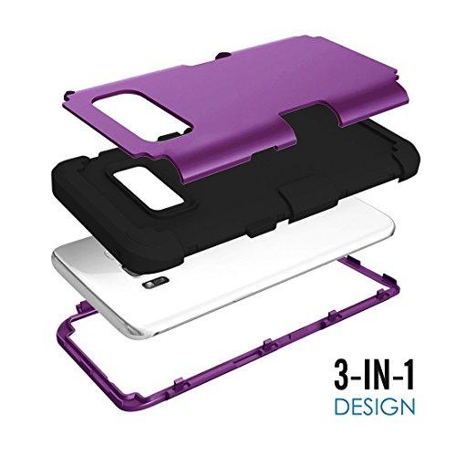 XIAOGUA Cases & Covers, Para Samsung Galaxy S8 + / G9550 Dropproof 3 en 1 funda de silicona para teléfono móvil ( Color : Black ) Brown