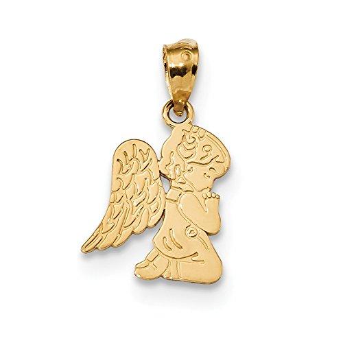FB Jewels 14K Yellow Gold Polished Praying Angel Girl Pendant