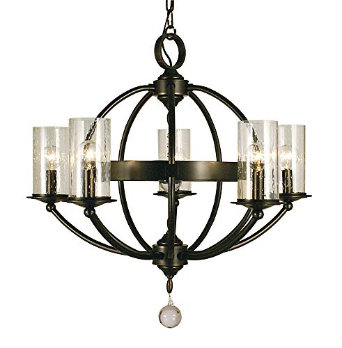 - Framburg Lighting 1075 MB Compass - Five Light Chandelier, Mahogany Bronze Finish