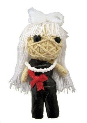 Lady Gaga Voodoo String Doll Keychain
