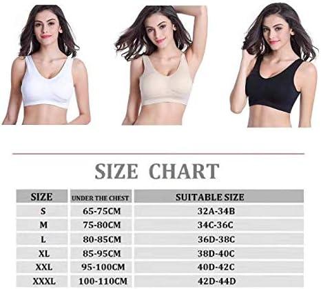 Comfort Seamless Stretchy Sports Bra,3 Pack Bras for Yoga Gym Activity Everyday Wear Lovely Vipgirl Sleep Bras for Women