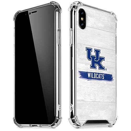 (Skinit UK Kentucky Wildcats Wood iPhone XR Clear Case - Officially Licensed Fermata College Phone Case Clear - Transparent iPhone XR Cover)