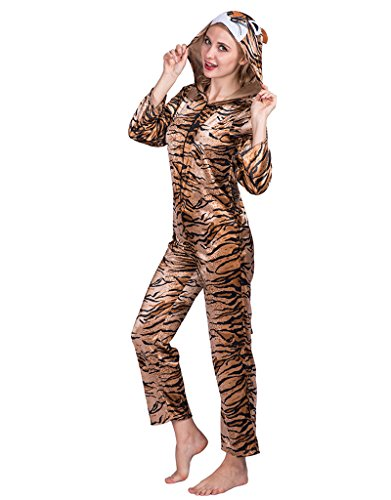 Animal Themed Party Costume (EraSpooky Unisex Adult Halloween Party Cute Tiger Animals Costume(As Picture, OneSize))
