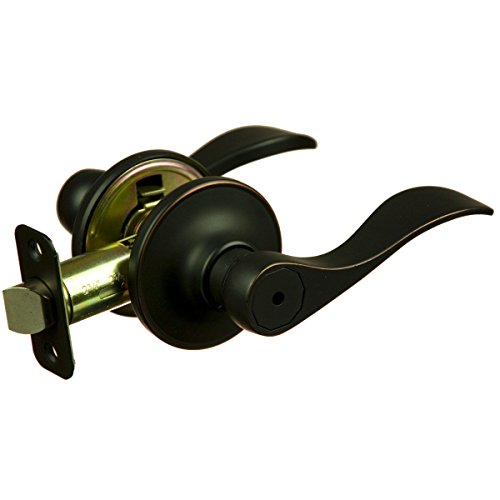 US Stock Madison Oil Rubbed Bronze Privacy Door Knob Lever (Bed & - Bluffton Sc Outlet Mall