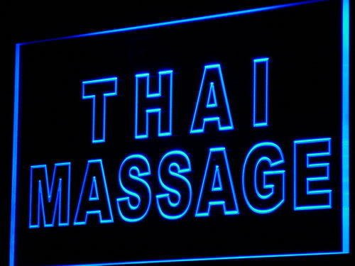 PEMA Neon Sign i731-b Thai Massage Neon Light sign by INDIGOS UG