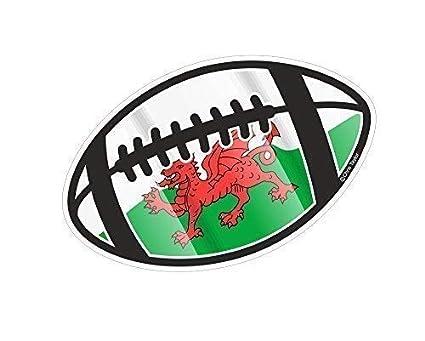 Balón de Rugby Motivo con Gales Cymru Bandera para Rugby Equipo ...