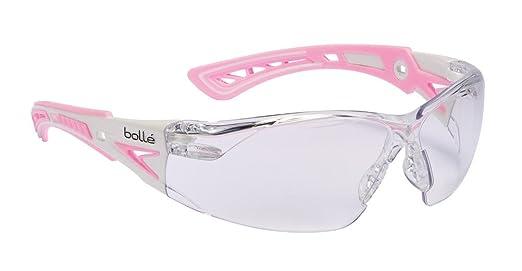 Bolle Rush + Tamaño pequeño gafas de seguridad rosa - RUSHPSPSIP